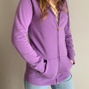 Aritzia TNA Purple Zip Up Hoodie